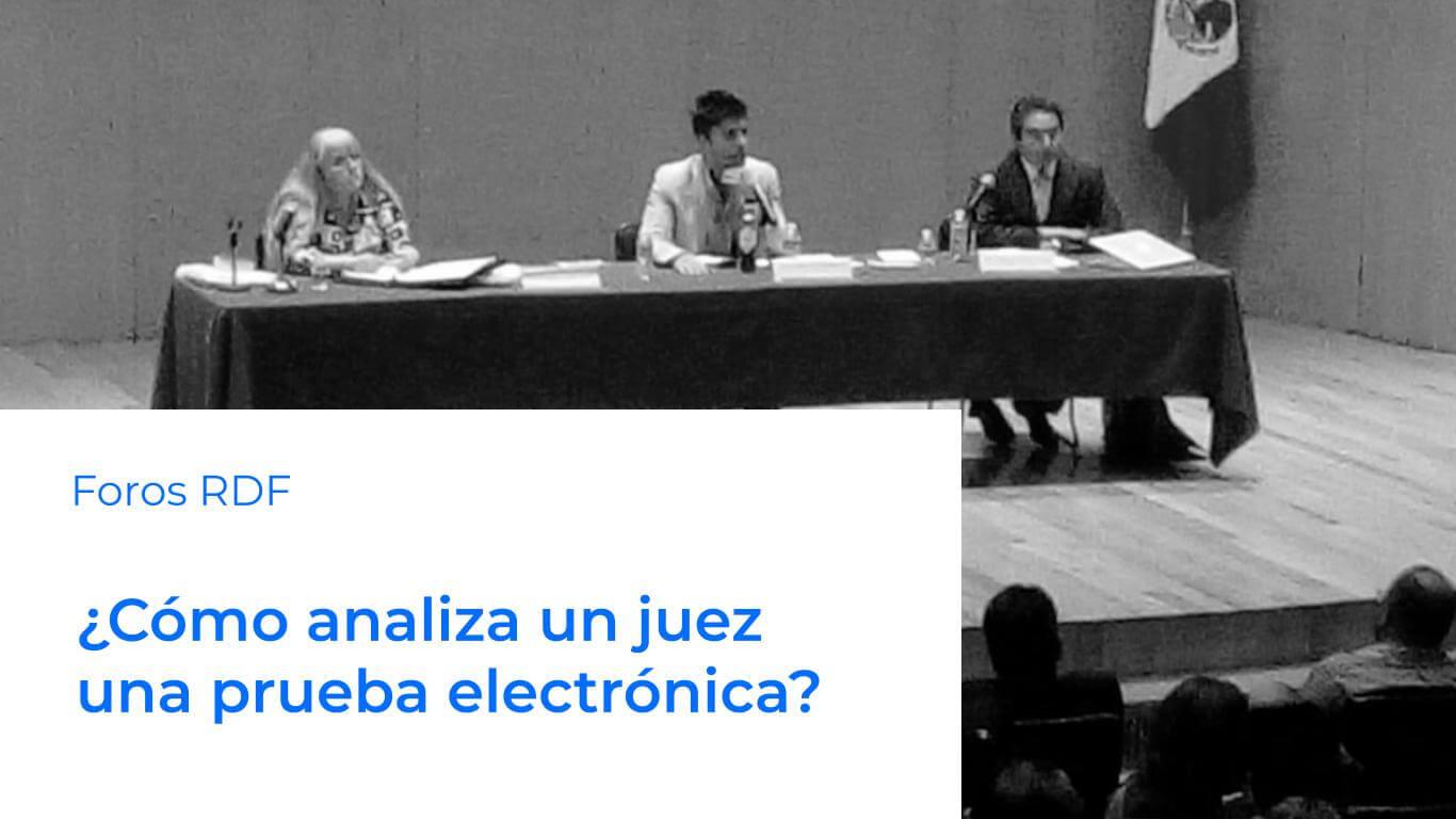 prueba electrónica