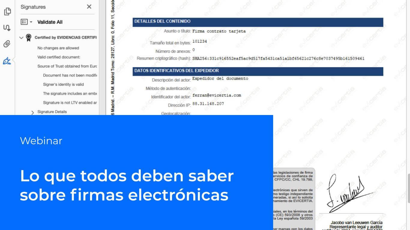 webinar firmas electrónicas